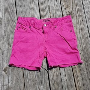 Tripp NYC Hot Pink Cut Off Stretch Denim Shorts 3